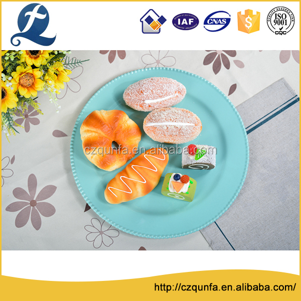 China made high hardness ceramic food serving plate