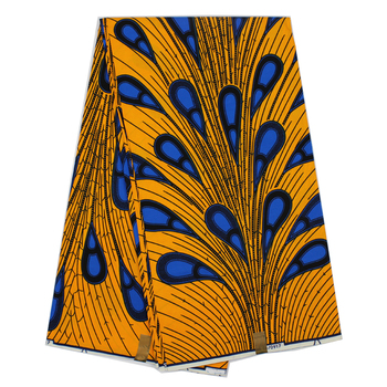 African guaranteed real dutch wax print fabric with peacock tail pattern