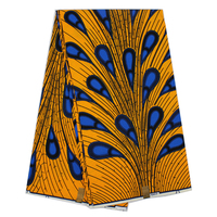 African wax prints fabric guaranteed real dutch wax fabric with peacock tail pattern