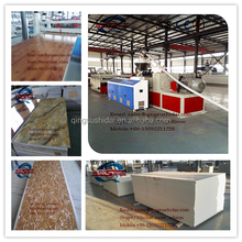 Wpc construction template machine pvc kitchen plate production line