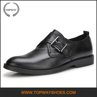 High end formal black genuine leather men man dress shoe