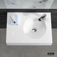 Repairable acrylic bathroom natural stone marble wash basin in italian market