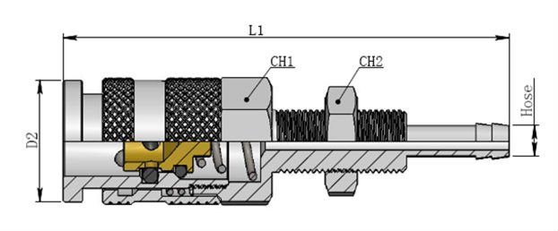 Series 21 Anti-Mis-insertion -Pneumatic quick couplings