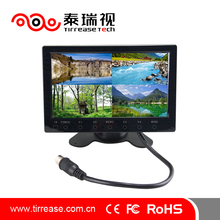 Super slim car 7 inch 24v bus coach monitor with quad touch button