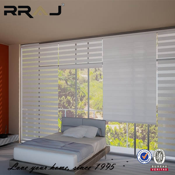 RRAJ 2017 rainbow white zebra window roll up blinds for windows