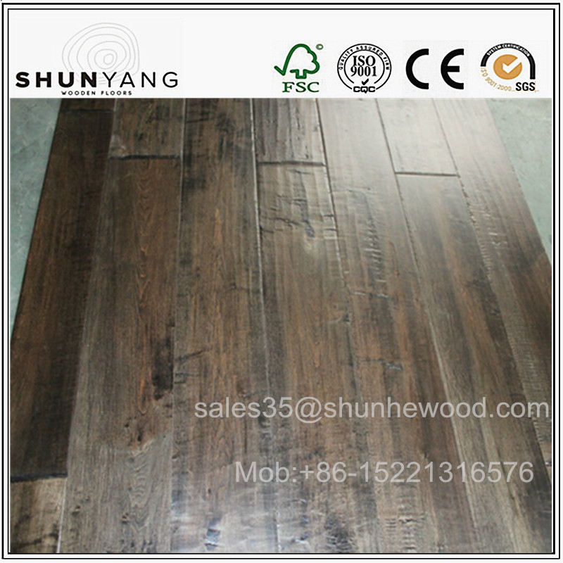 127,125mm Canadian Hand scraped Solid Maple Hardwood flooring