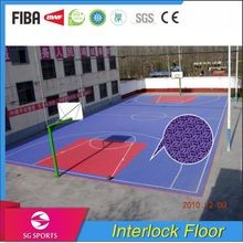 Professional Factory Anti-slip Healthy Eco-friendly Interlock Sports Outdoor Flooring for Volleyball Court