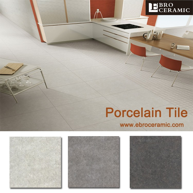 600x600mm White grey Cement ceramic kithen flooring tiles for building material 66CM18