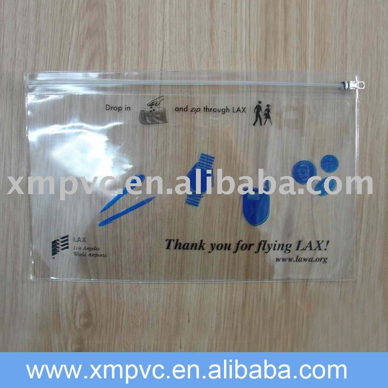 Pvc soft,flexible clear packaging bag for underwears D-Z067