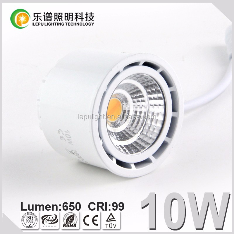 Led Module CCT 0-100% dimming dim to warm COB led light CRI88/99 8W/10W with reflector lens