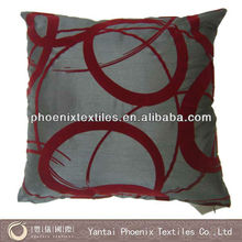 45*45 printed flocked cushion cover