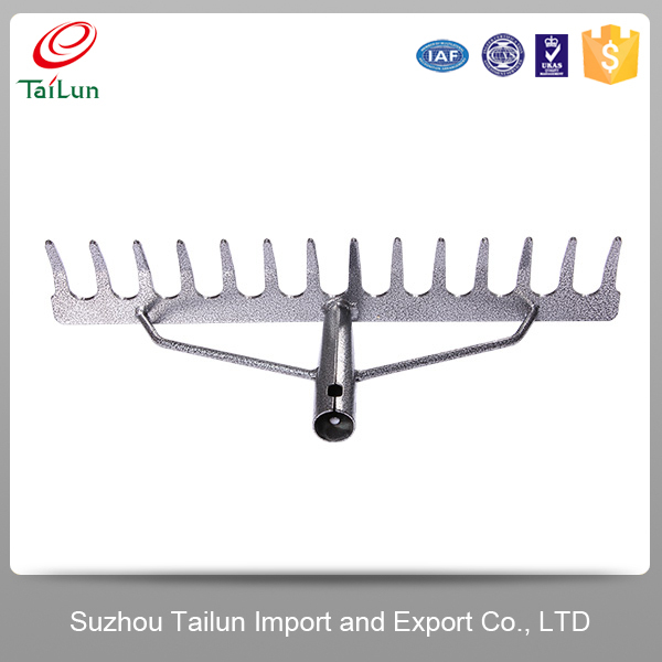High Quality 14 Tines backed Enamel 45# Steel Garden Hay Rake