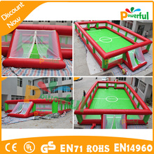 Giant Outdoor soap inflatable football playground