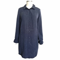 OEM Service Women Oversize Long Sleeve Causal Dress for Fat Plumsy Ladies