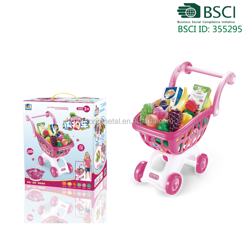miniature plastic shopping cart child toy