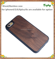2016 New product for iphone 6 wood case TPU, for wood iphone 6 case TPU, for TPU iphone6 case walnut wood