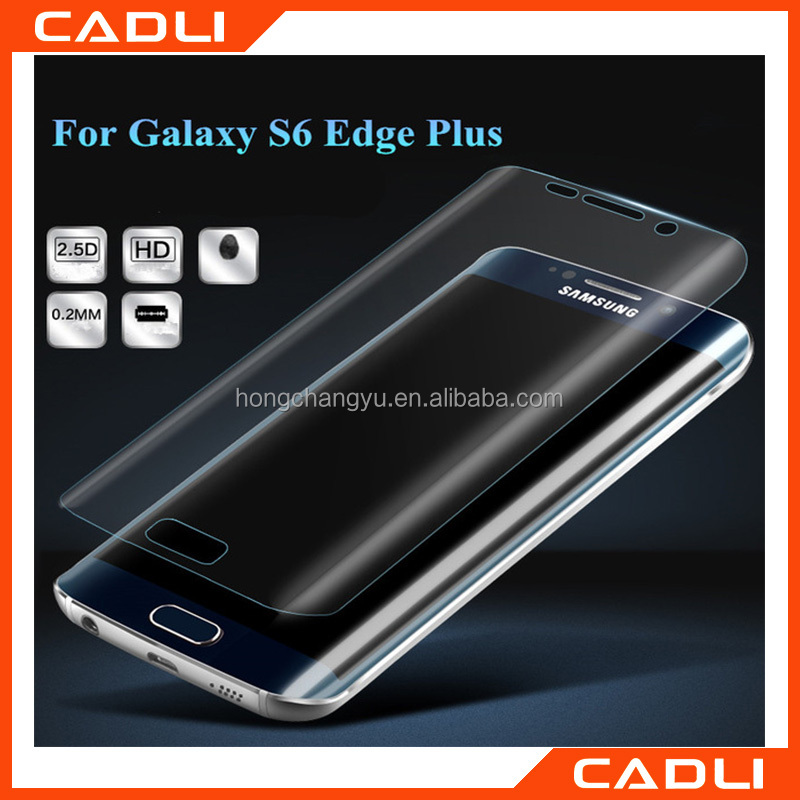 Wholesale Mobile phone Tempered glass film 9H hardness 3D curved edge full cover For Samsung S6 edge plus