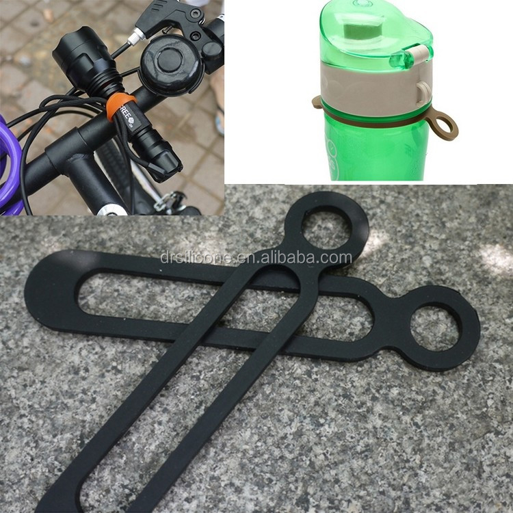 Wholesale 100% soft silicone band bicycle phone Holder for iphone,strong unbreakable safety elastic mount band tablet holder