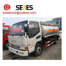 JAC 5001-10000L Tank Volume and Manual Transmission Type oil trucks for sale