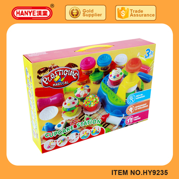 HY9235 Large Cupcake Model Kit Tools and Plasticine Clay Toy