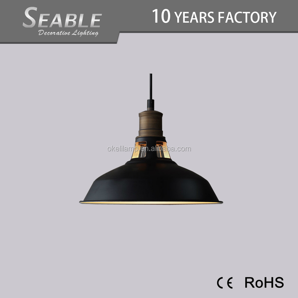 High quality energy saving round indoor metal retro led pendant light
