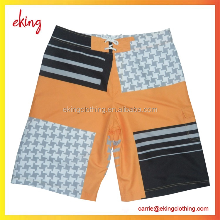 Custom design lycra couple Beach Short with Coin Pocket