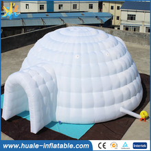 2017 hot cheap white inflatable igloo tent for sale