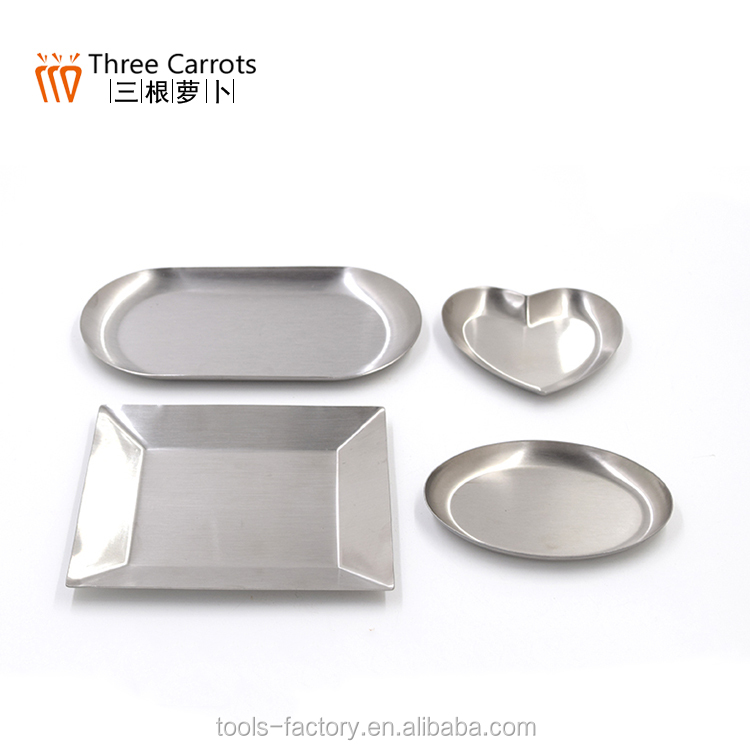 2017 Stainless Steel plates set kitchen accessories gadgets Dishes & Plates