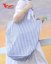 Eco-friendly Cotton Canvas Bag Shopping Bag Stripe Bag