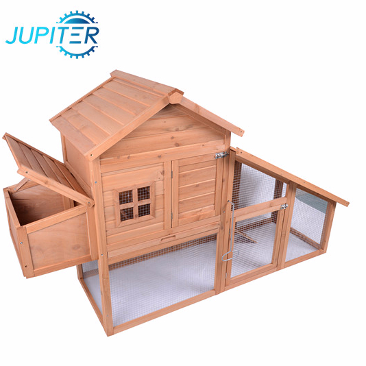 Solid removable poultry anmial chicken coop with nesting box
