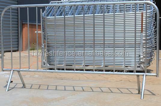 portable hot-dipped galvanized concert crowd control barrier