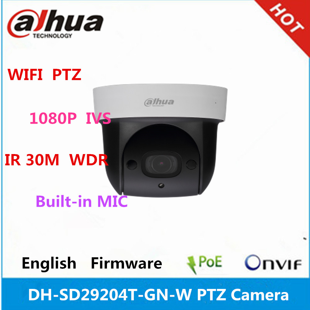 Surveillance outdoor camera dahua DH-SD29204T-GN-<strong>W</strong> 2Mp built-in MIC WIFI Network Mini Speed Dome IP camera