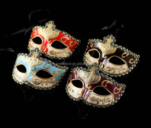 Festive and party supplies 6 colors painted pulp mask with lace Venetian masquerade ball masks