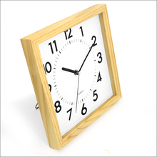 hot Latest style wooden square photo frame wall clock(10W58NA-280)