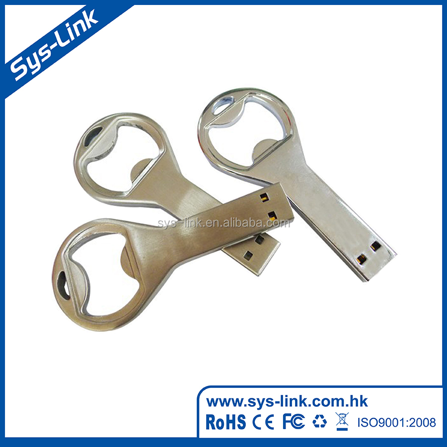 2017 Popular best-selling bottle opener shape usb flash drives bulk cheap