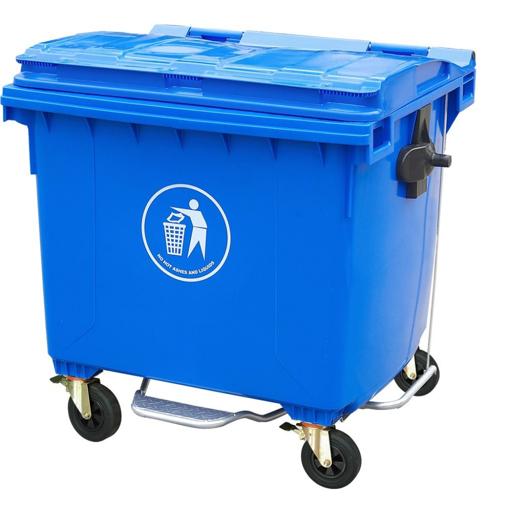 1100L low price waste bin made in China/medical dustbin/trolley bin with lid