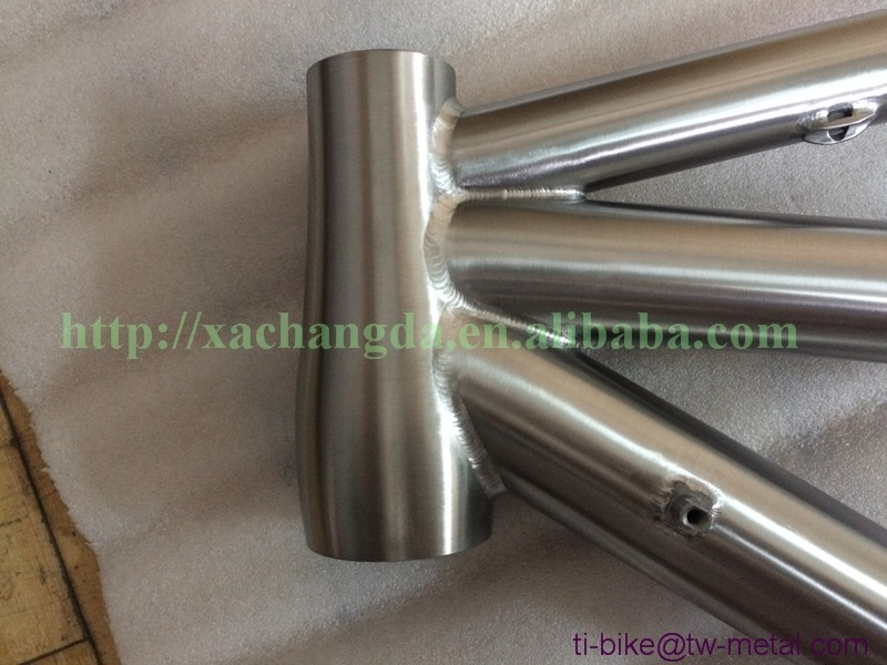 Customized titanium tandem road bike frame ti tandem racing bicycle frames 700c ti tandem touring bike frameset cheap in china