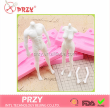 PRZY New design body mold silicone mold male and female full-body mold DIY