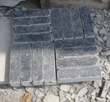 Factory supply Chinese blue limestone ACID&tumbled pavers