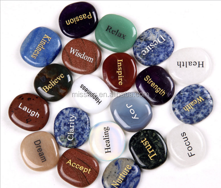 custom letters words engraved natural stone pendants charms inspired words engraved pebbles cobblestone pendants charms hangers