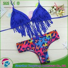 2017 China Factory Black Bandage Girls Sex Swim Suit Bikini