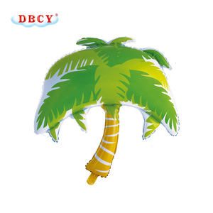 DBCY Fabric Waterproof for Hot Air Balloon Coconut Palm Tree Shape Nylon Foil Balloon for Party Wall Decoration of All Festivals