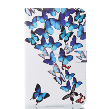 Fashional Color Printing Beautiful Protective Cover For Samsung Galaxy T560 PU leath Case Cover for Ipad With Stand