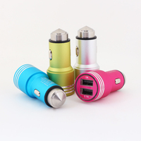 Safety Hammer Universal Dual USB Car Charger with 5V / 2.1A + 5V / 1A USB Charging Socket for Mobile