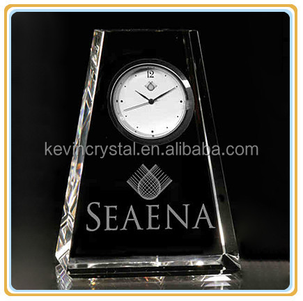 trapezoidal crystal table clock favors souvenirs gifts