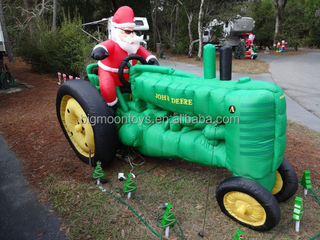 2017 hot outdoor inflatable christmas john deere model