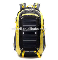 China supplier organizer waterproof solar bag fashion outdoor climbing solar back pack
