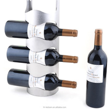 High quality holding 4 bottles Wall mounted stainless steel wine rack