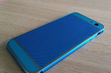High quality Carbon fiber hard phone Case with colorized Aluminum Metal Bumper