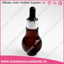 20ml 40ml unique glass dropper bottles for e liquid wholesale , empty essential oil bottles can be with logo printing